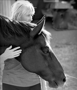 Jennifer Pitts and horse